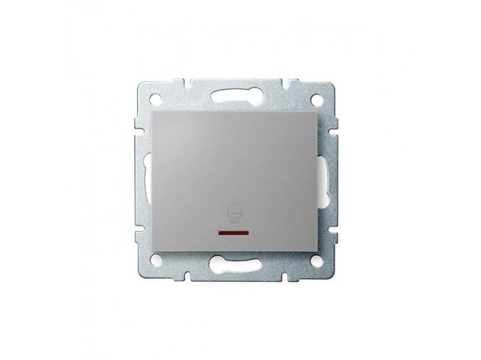LOGI Zvonkové tlačítko s LED - stříbrná
