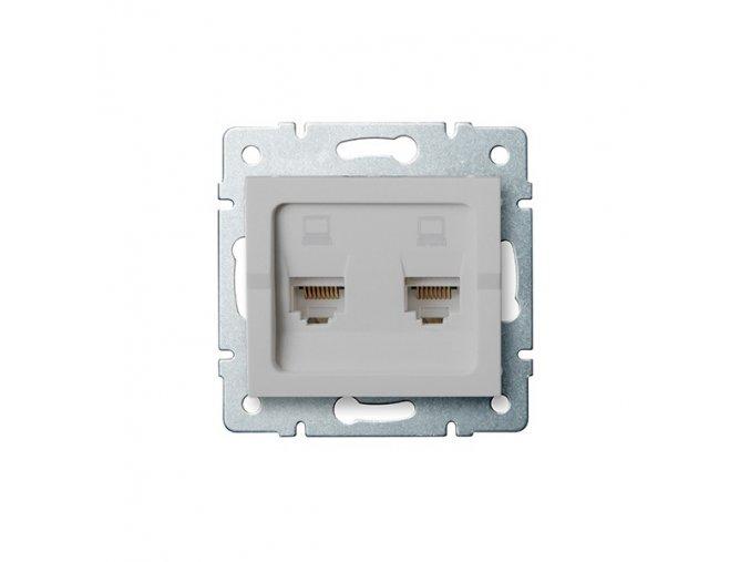 LOGI Dvojitá datová zásuvka nezávislá 2xRJ45Cat 5e