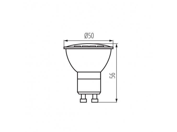 LED žárovka GU10 5W TOMI LED GU10-WW teplá bílá
