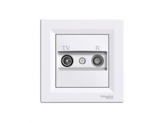 Zásuvka TV plus R koncová ASFORA, bílá