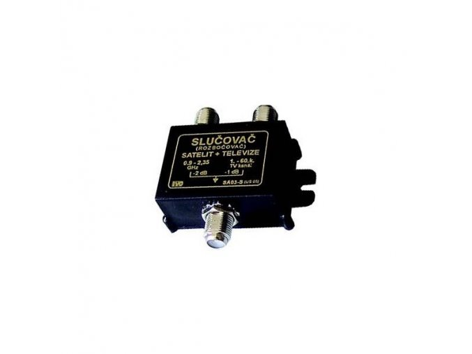 Slučovač a rozbočovač satelitního a antenního signálu IVO SA03-S