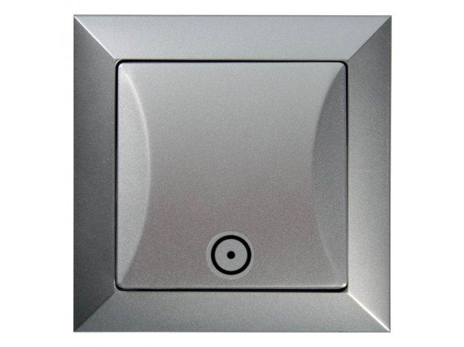 Vypínač Opus č. 1/0 tlačítko stříbrný