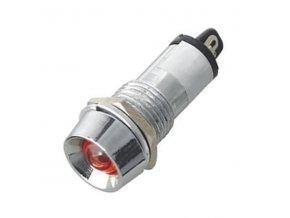 kontrolka 12V LED cervena k460h