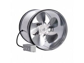 kovovy potrubni ventilator s tesnici gumou vpi 160mm