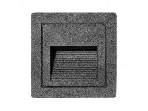 LED vestavné orientační svítidlo STEP Z01WF-CR 85x85mm, 3W, IP54, černá matná