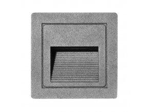 LED vestavné orientační svítidlo STEP Z01WF-SED 85x85mm, 3W, IP54, šedá