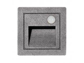 LED vestavné svítidlo s čidlem STEP 2 Z01WF/PIR-SED 85x85mm, 3W, IP54, šedá