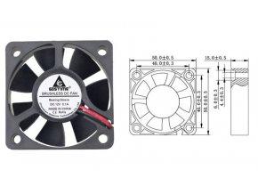 ventilator 12V 50x50x15mm 0,10A 5000ot min