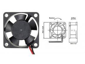ventilator 12V 30x30x10mm 0,1A 8000ot min