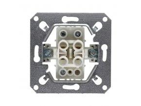 Vypínač RETRO č. 6 střídavý, schodišťový, černý matný