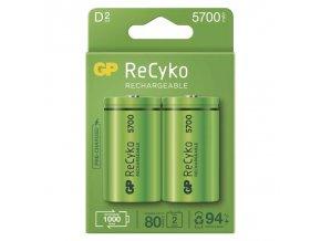 Baterie D (R20) nabíjecí 1,2V/5700mAh GP Recyko 2ks