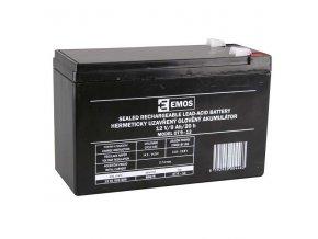 Olověný akumulátor 12V 9Ah faston 6,3mm