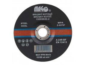 Brusný kotouč na kov, ocel 150 x 6 x 22 mm MAGG