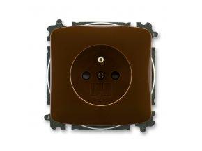 Zásuvka TANGO 5519A-A02357 H hnědá