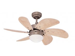 Stropní ventilátor se světlem Westinghouse 78158 Turbo Swirl