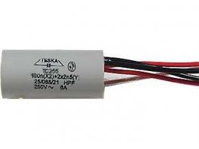 Odrušovací kondenzátor TC259 100n+2x2n5 250VAC/6A, 5 vývodů
