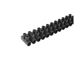 Svorkovnice instalační 12x 6 mm černá