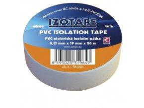 Izolační páska PVC 19mm / 20m bílá
