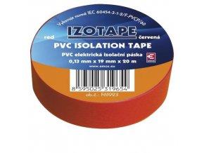 Izolační páska PVC 19mm / 20m červená