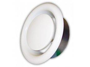 Anemostat kovový odvodní 125 mm