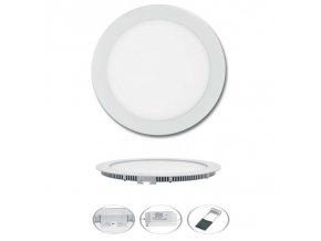 LED svítidlo LED-WSL-12W/4100/BI Kruh 17,5cm, 12W, 4100K, LADA