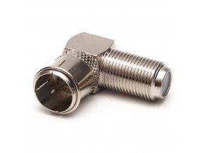 Konektor F spojka úhlová