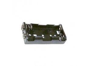 Držák na tužkové baterie 2x R6/AA/UM3 vedle sebe s klipsem