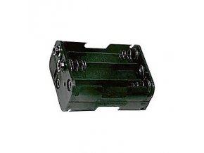 Držák na tužkové baterie 6x R6/AA/UM3 s klipsem