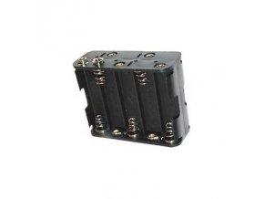 Držák na tužkové baterie 10x R6/AA/UM3 s klipsem