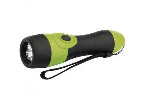 Svítilna LED gumová 3xLED, 2xAA zelená