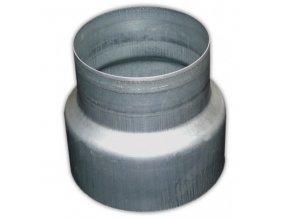 Přechod osový, redukce METAL-K R 100/125mm kovová Zn