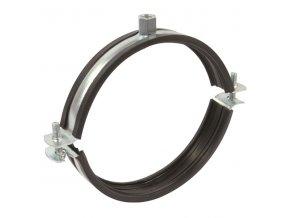 Objímka na VZT potrubí držák s gumou dvoušroubový 315 mm