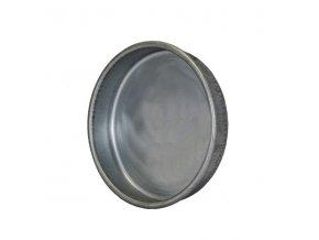 Ukončovací záslepka pro kruhové potrubí 100 mm, kovová Zn