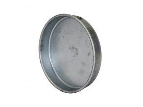 Ukončovací záslepka pro kruhové potrubí 125 mm, kovová Zn