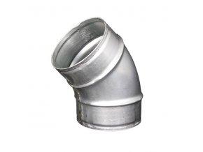 Koleno pro kruhové potrubí 125 mm/45 stupňů, kovové Zn