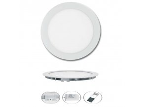 LED svítidlo LED-WSL-6W/4100/BI Kruh 12cm, 6W, 4100K, LADA