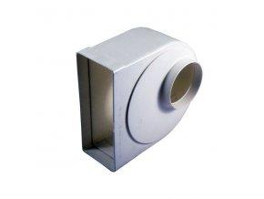 Redukce ohlá z průměru 100 na kanál 220x90/90 PVC 941