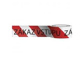 Páska výstražná červeno-bílá ZÁKAZ VSTUPU 80mm x 250m