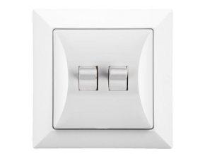 Vypínač RETRO č. 5 sériový, lustrový, bílý
