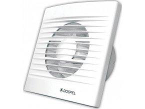 Ventilátor Dospel Styl 100 WC-P s doběhem a zpětnou klapkou