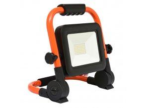 LED reflektor s akumulátorem 30W RMLED-30W/ORA/AKU 4000K