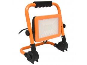 LED reflektor 50W na stojanu RMLED-50W-ORA přenosný, oranžový