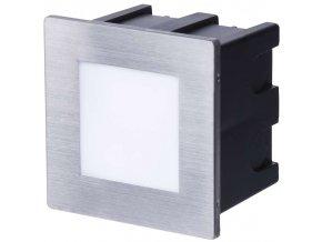 LED orientační vestavné svítidlo 80x80mm 1,5W, IP65, teplá bílá