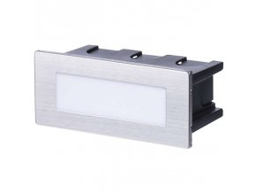 LED orientační vestavné svítidlo 123x53mm 1,5W, IP65, teplá bílá