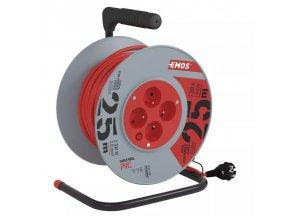 Prodlužovací kabel na bubnu 25m 4 zásuvky EMOS P194252