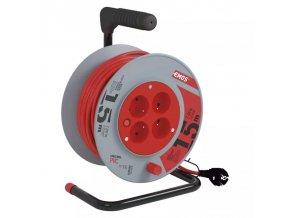 Prodlužovací kabel na bubnu 15m 4 zásuvky Emos P194151