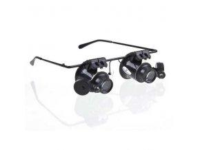 Zvětšovací brýle 20x přiblížení s LED osvětlením