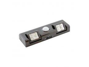 Noční světlo LED s PIR pohybovým čidlem, černé
