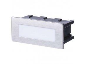 LED orientační vestavné svítidlo 123x53mm 1,5W, IP65, neutrální bílá