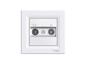 Zásuvka TV plus R průběžná ASFORA, bílá